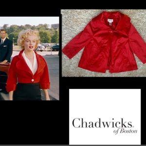 🦋Chadwicks•Red Swing Jacket